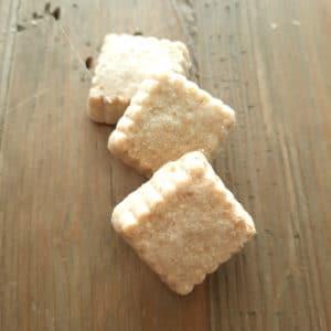 biologisch gezouten koekje met kaas en knoflook