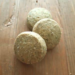 Biologische groene thee zandkoekjes