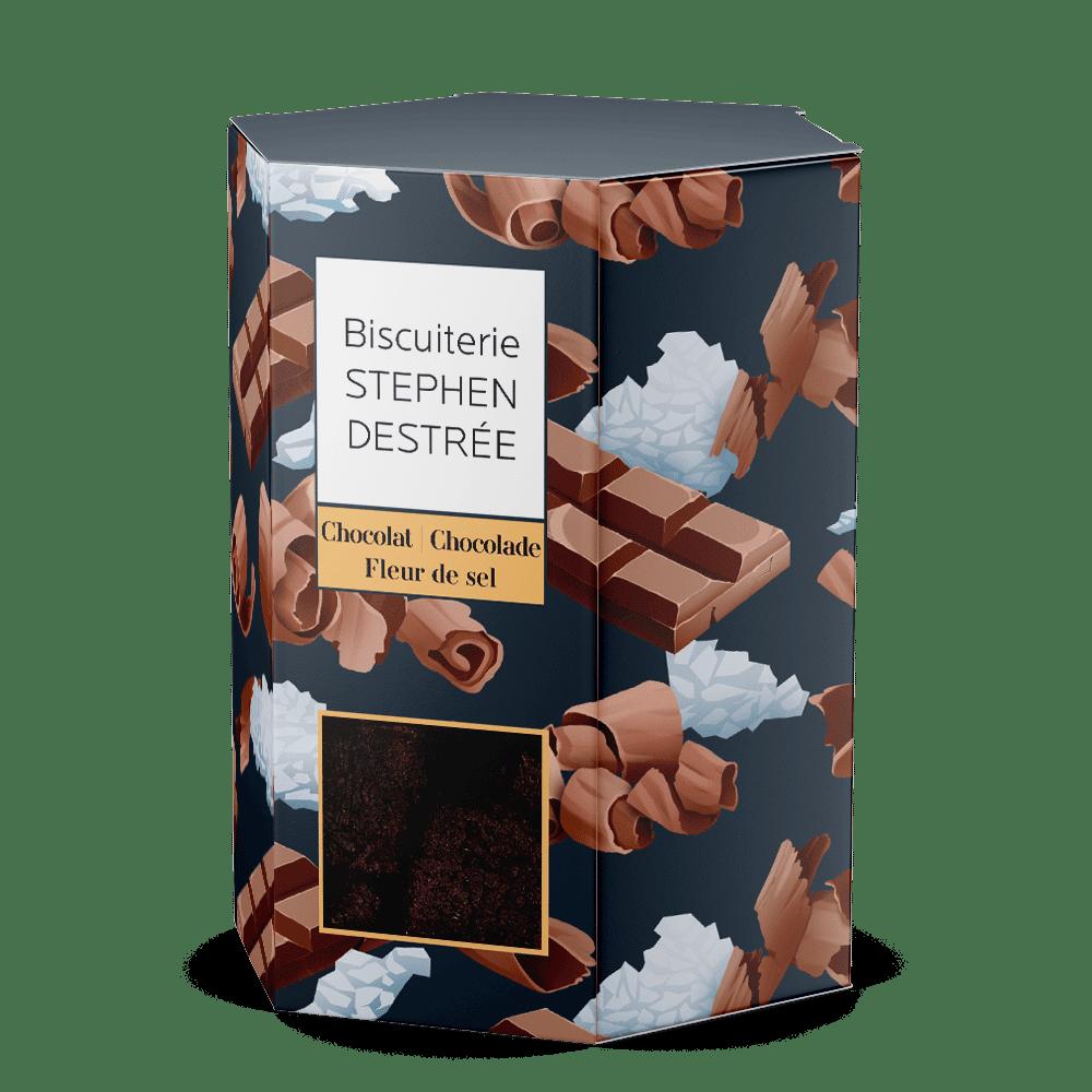 Koekje chocolade en fleur de sel