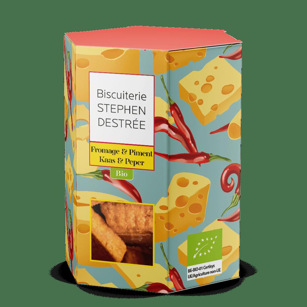 Biologisch gezouten koekje met kaas en paprika